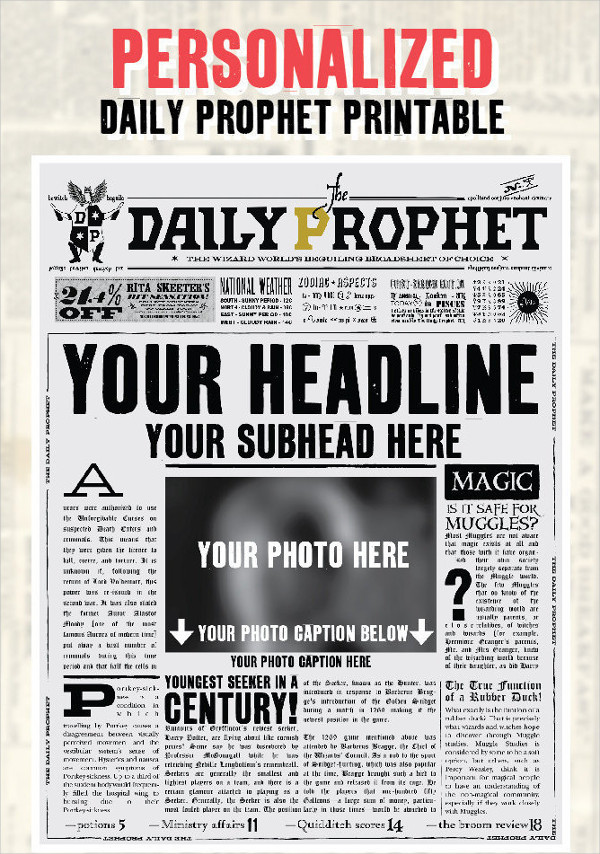 28 Newspaper Templates Free Download