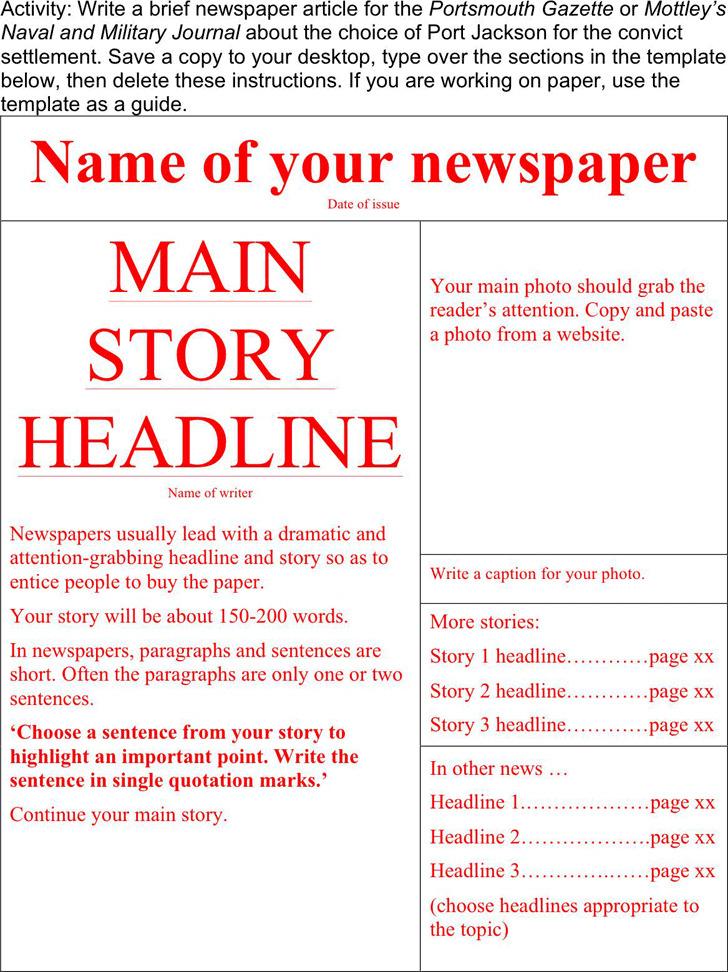 Newspaper Template 1