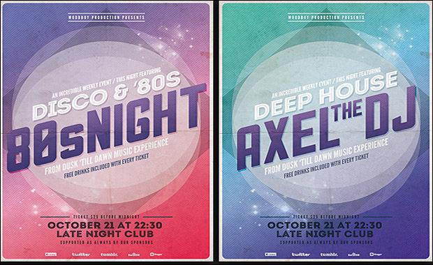 Nightclub Event Flyer PSD