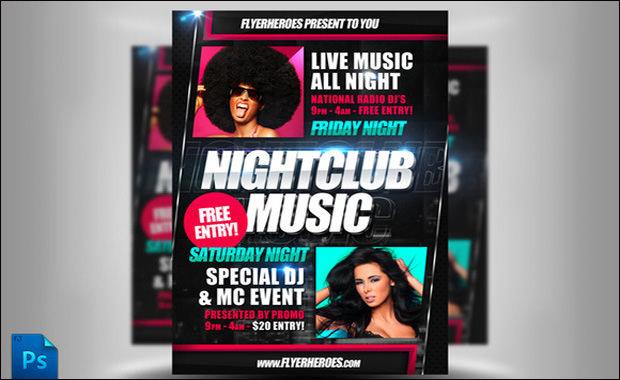 Nightclub Music Flyer template