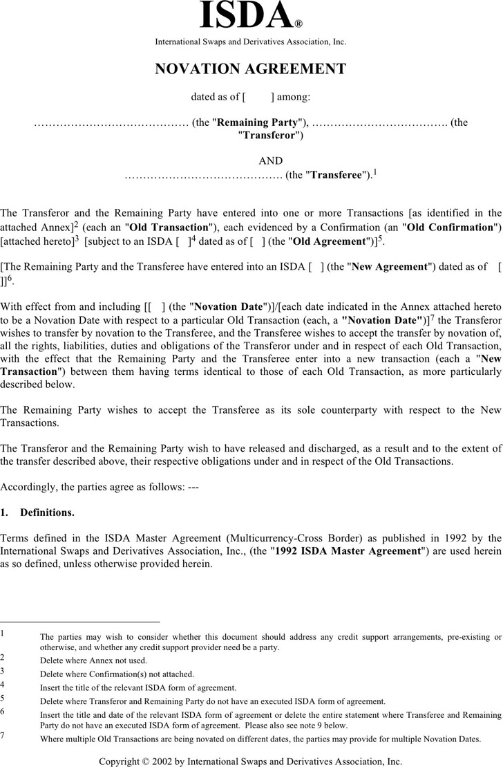 Download Novation Agreement For Free Tidytemplates