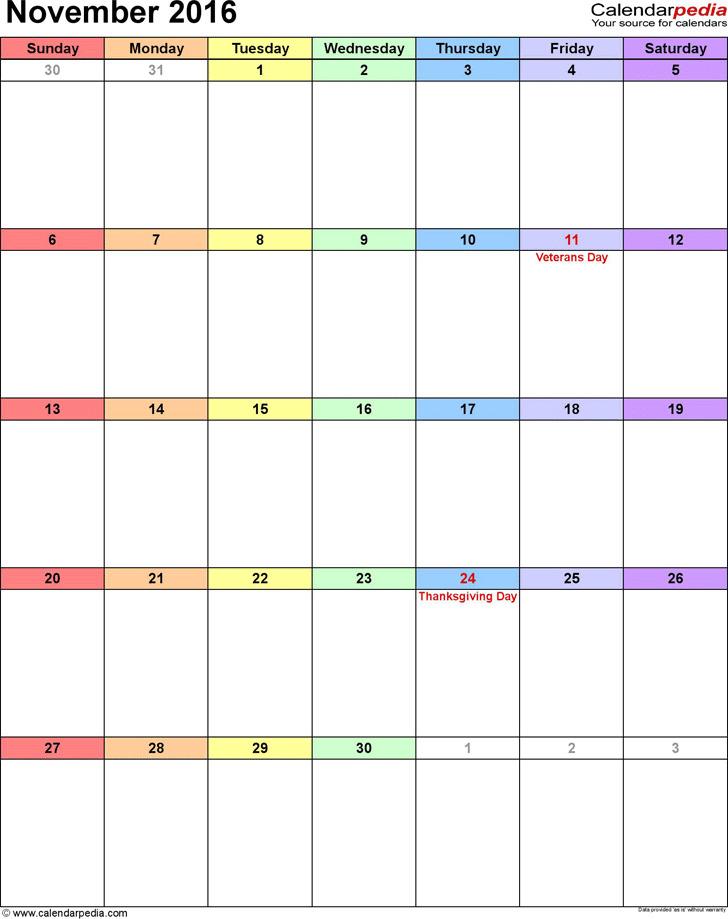 November 2016 Calendar 3