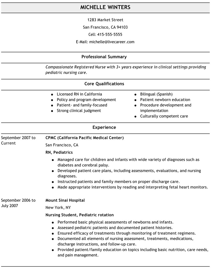 Nurse Resume Modern