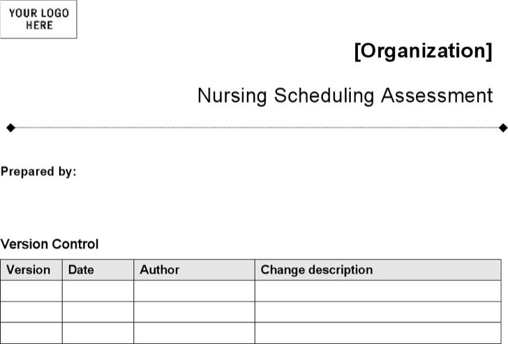 Nursing Schedule Assessment Form