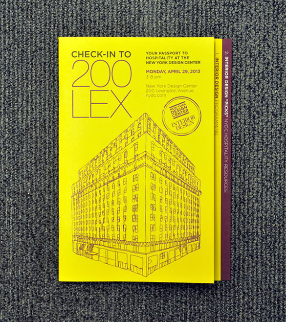 NYDC 200LEX Event Brochure Template