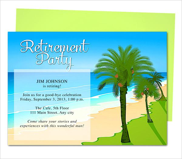 Oasis Retirement Party Invitation Template