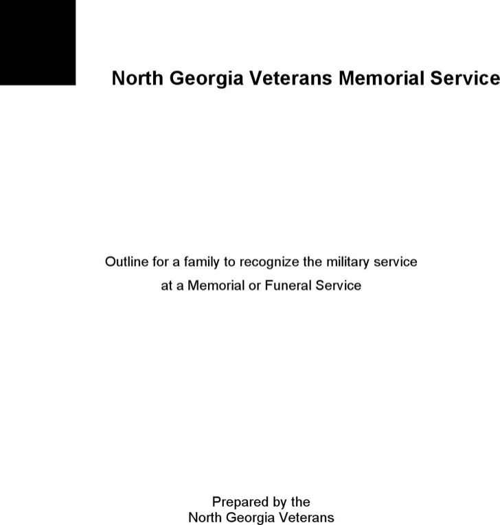 Obituary Service Outline Template Doc
