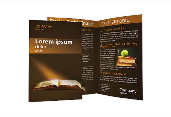 Old Book Church Brochure Template - $29.99