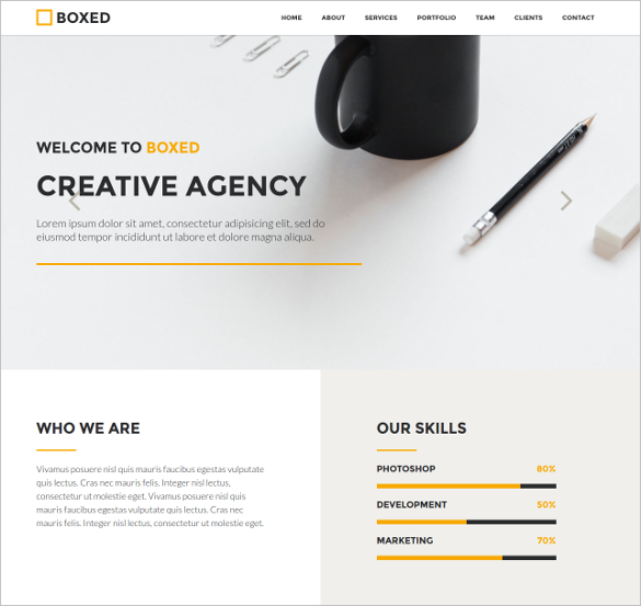 One Page Creative Web Application Template