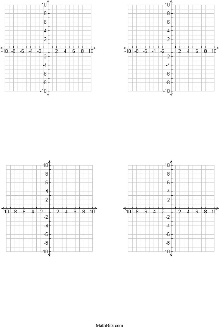 One Page With Four 10X10 Templates With Labeled Scales