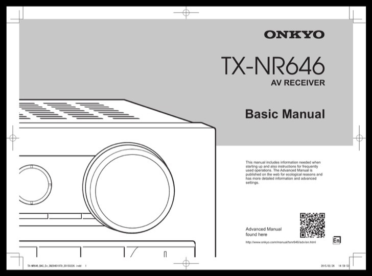 Onkyo Owners Manual Sample