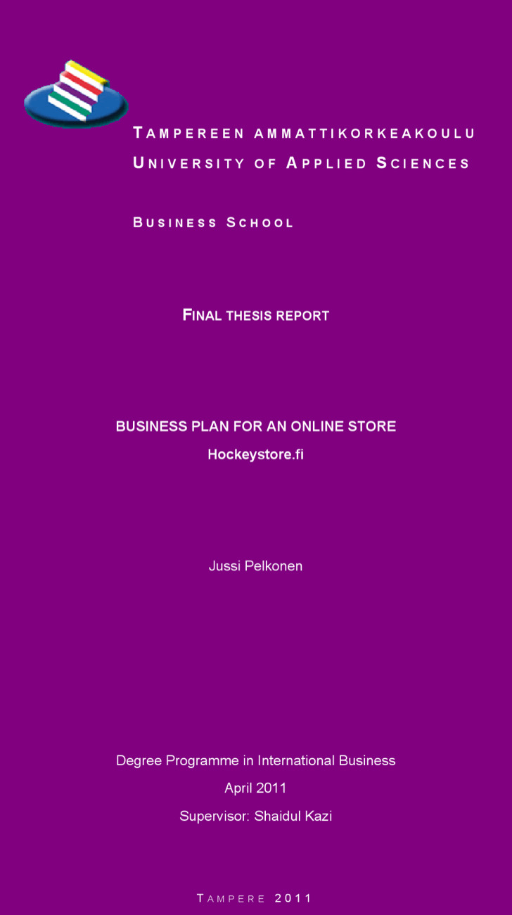 Online Boutique Business Plan