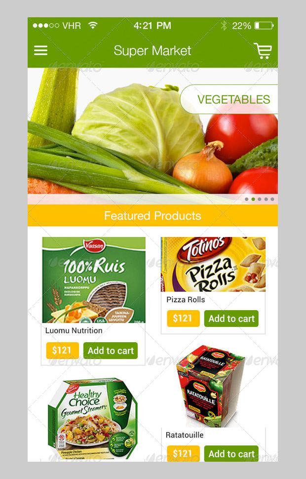 Online Super Market Application