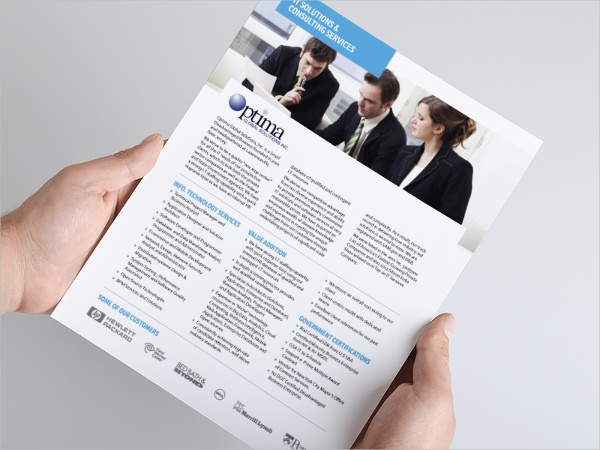 Optima Corporate One Page Brochure