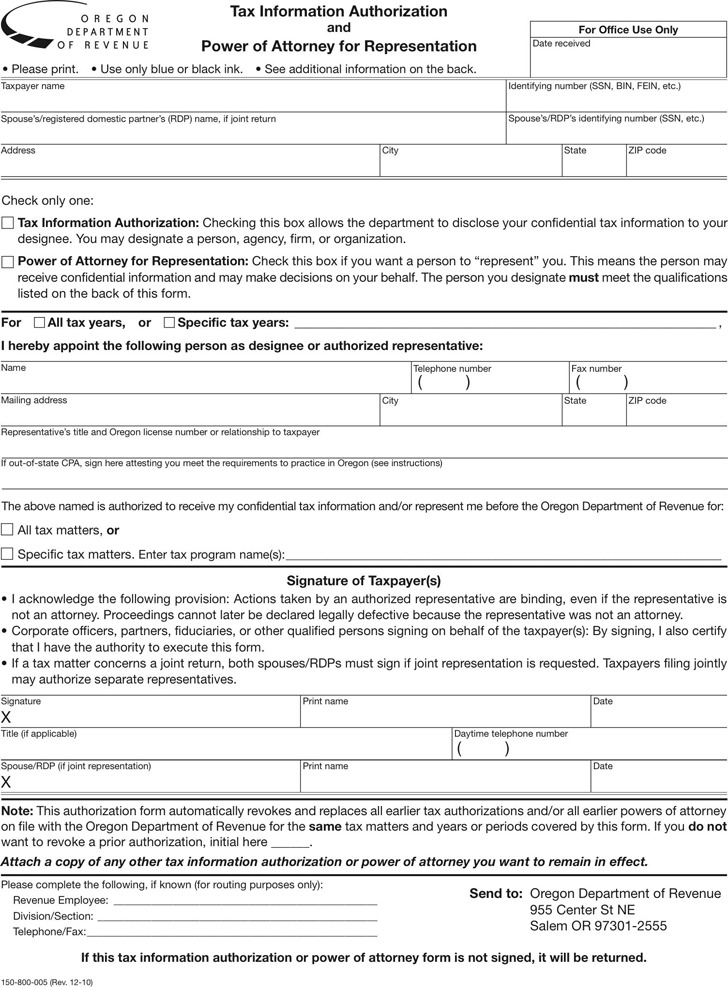 Download Oregon Power Of Attorney Form For Free Tidytemplates