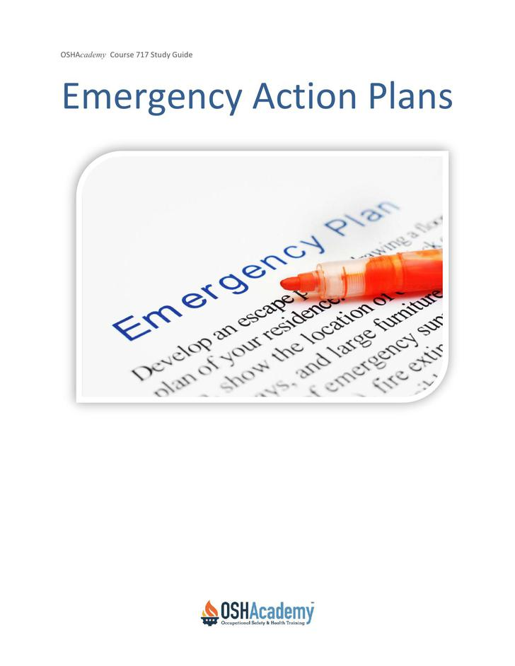 Osha Emergency Action Plan Template