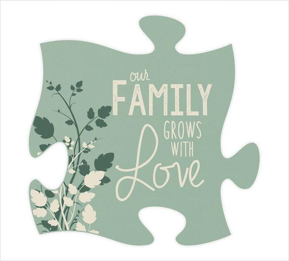 Our Family Quote Puzzle Piece