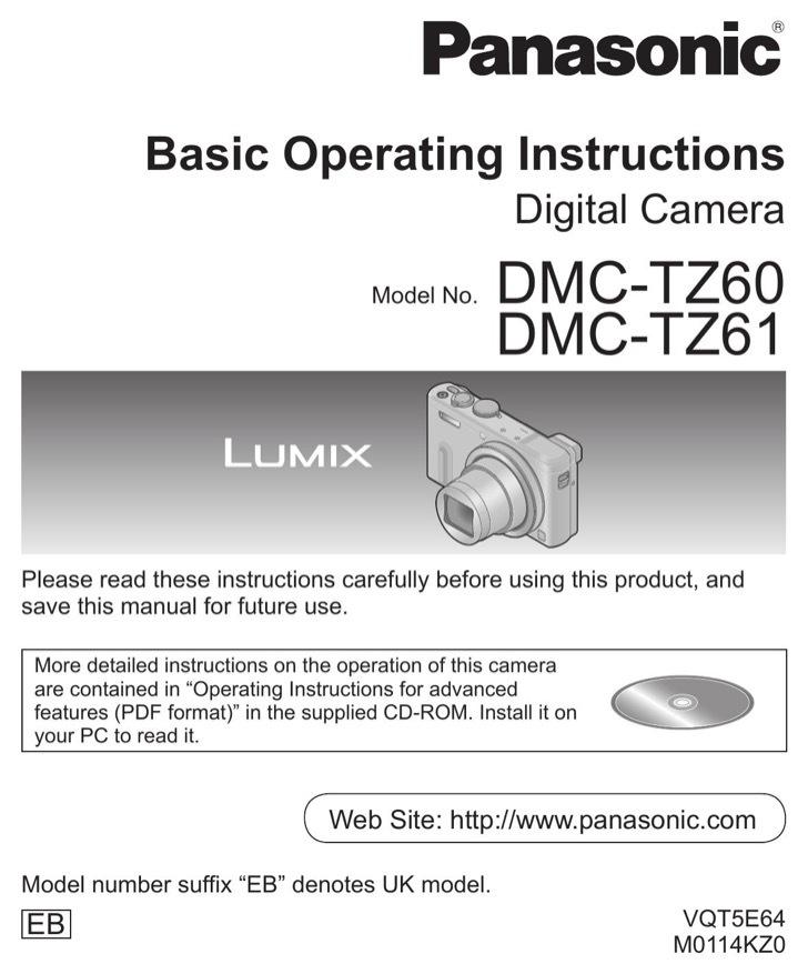 Panasonic Operation Manual Sample