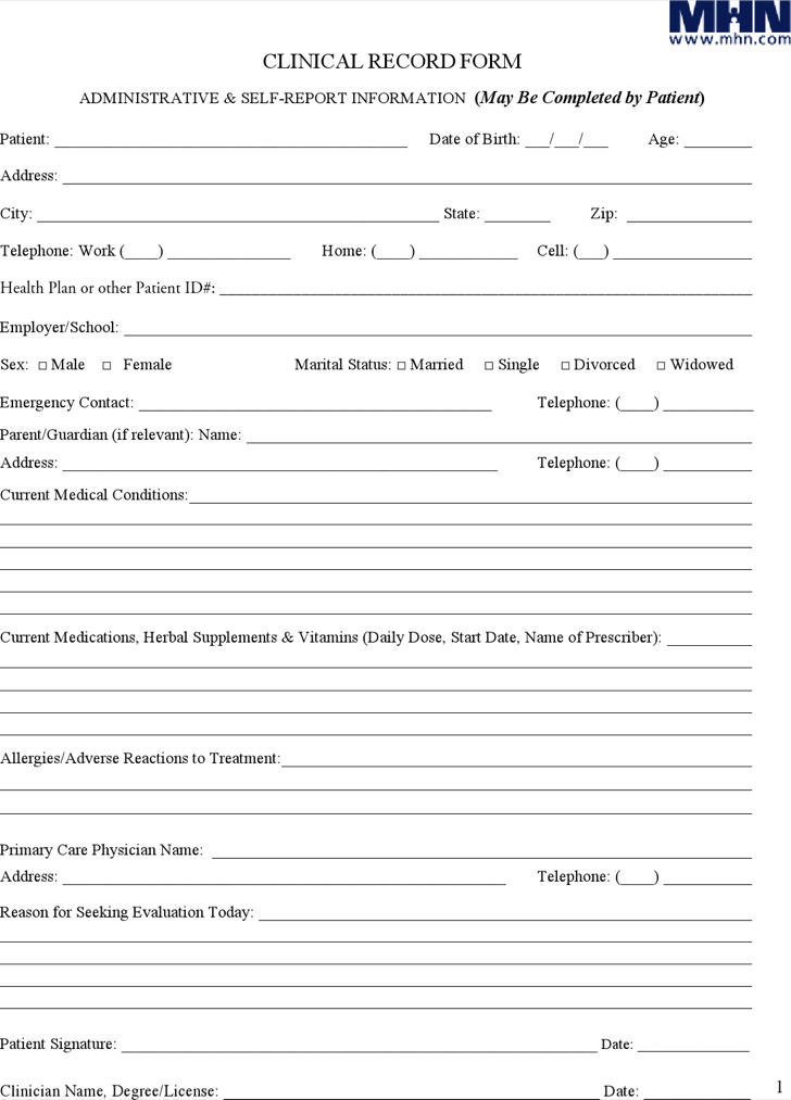 Patient Progress Note Template
