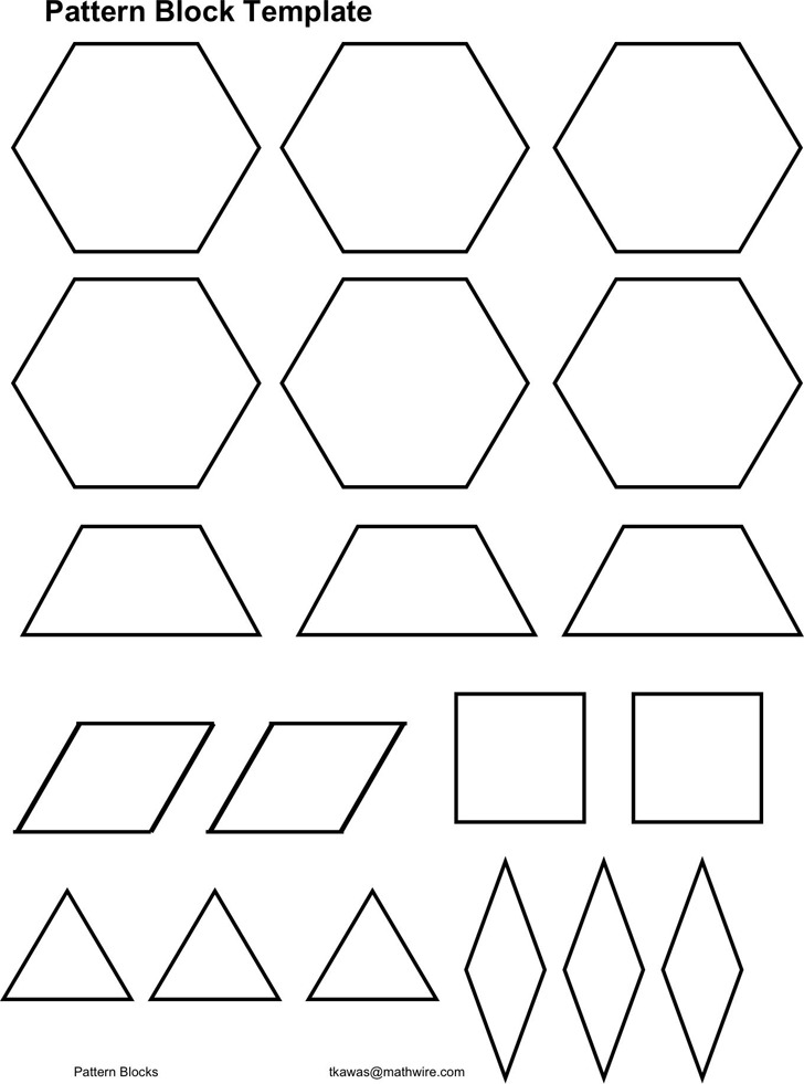 Pattern Block Template 3