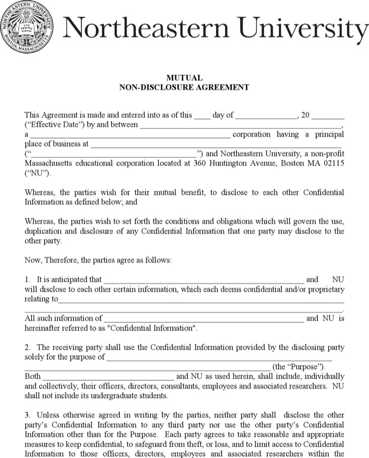Pdf Template For Counsel Mutual Non Disclosure Agreement