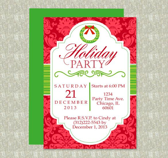 Perfect Holiday Party Word Format Template