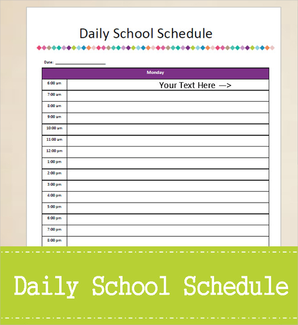 Personal Daily Planner for Study