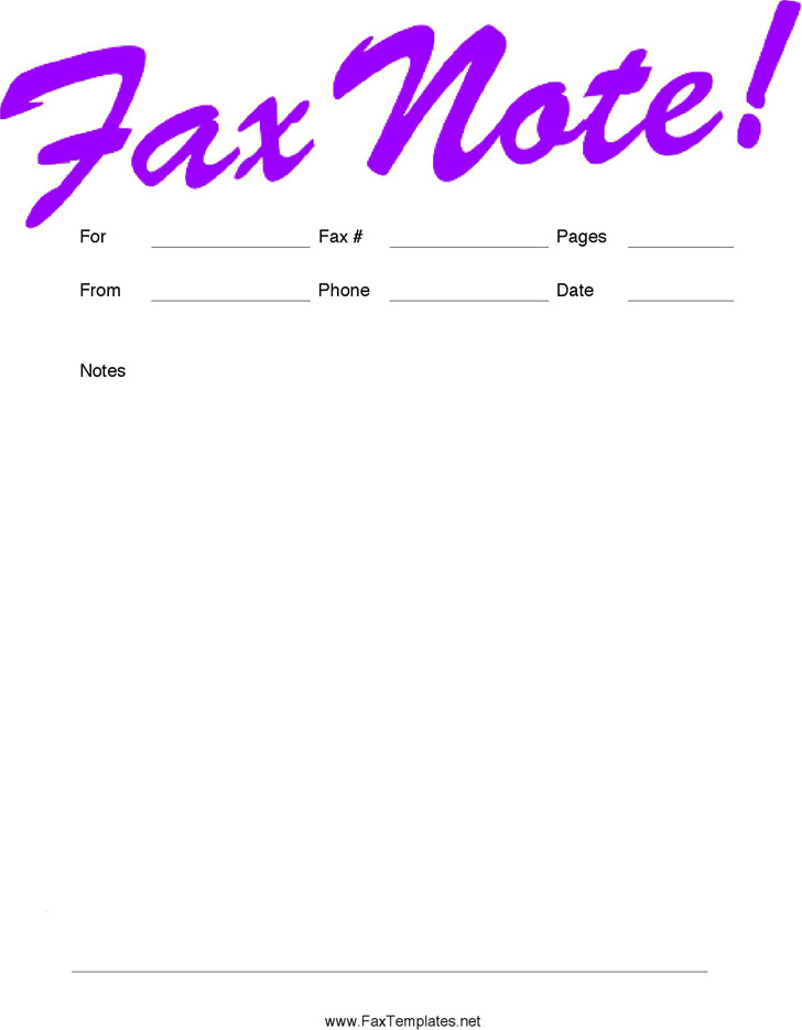 Personal Fax Cover Sheet 2