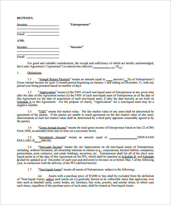 investor questionnaire template - 8 investment contract templates free download