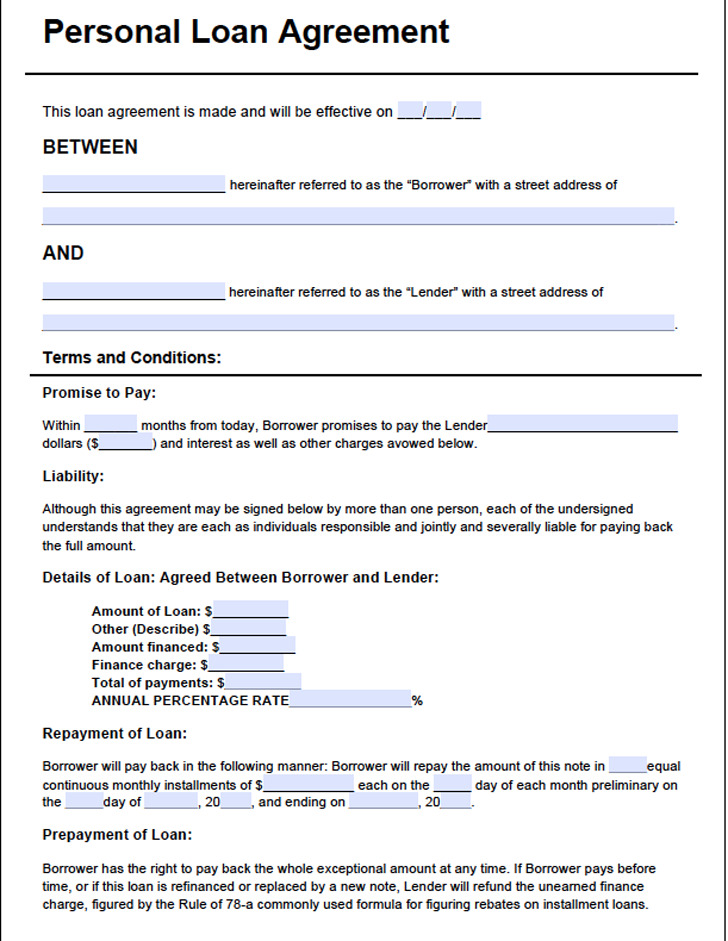 Superior Loan Agreement Template3