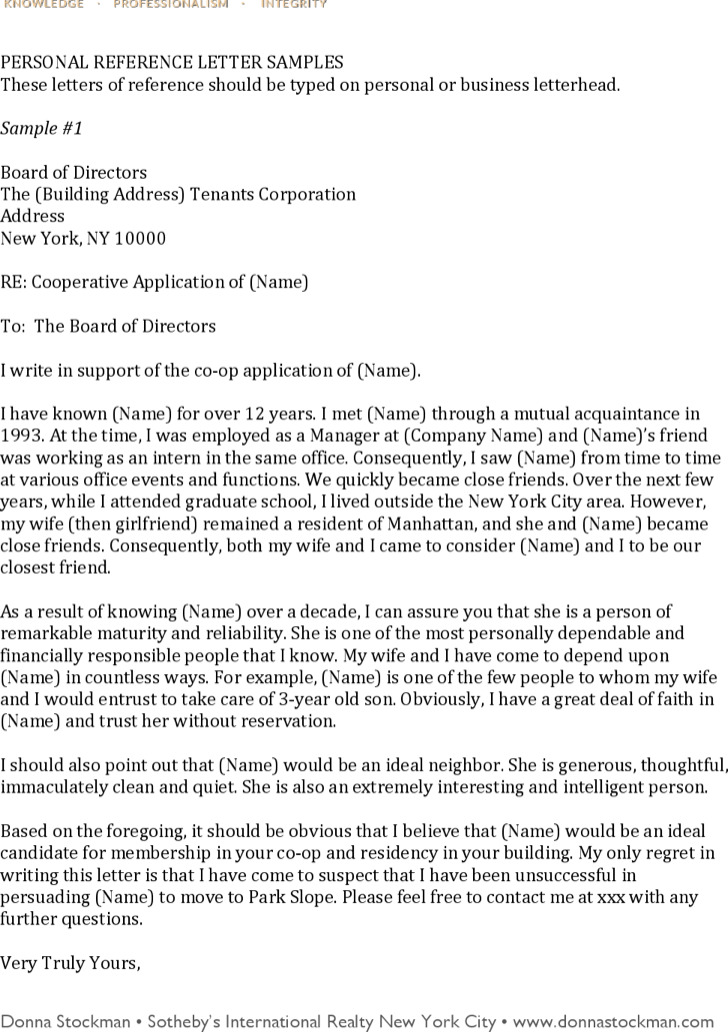 Personal Recommendation Letter Template Free Pdf Format