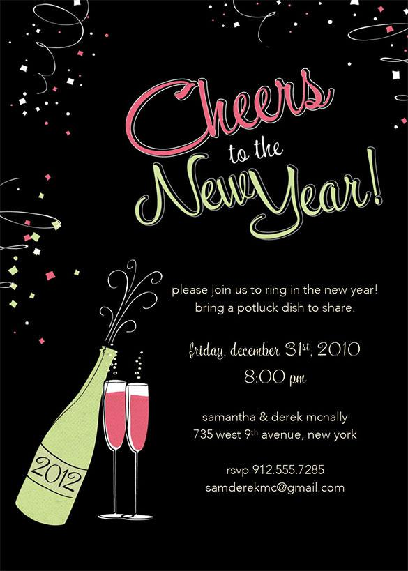 Personalise Your New Years Invitation Template Download