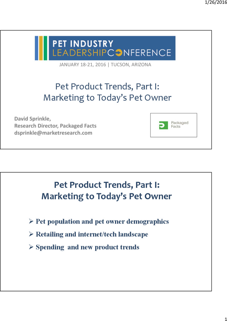 Pet Product Marketing Trends