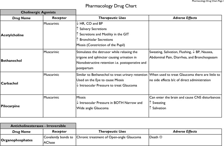 Pharmacology-Drug-Chart-B-W-Version