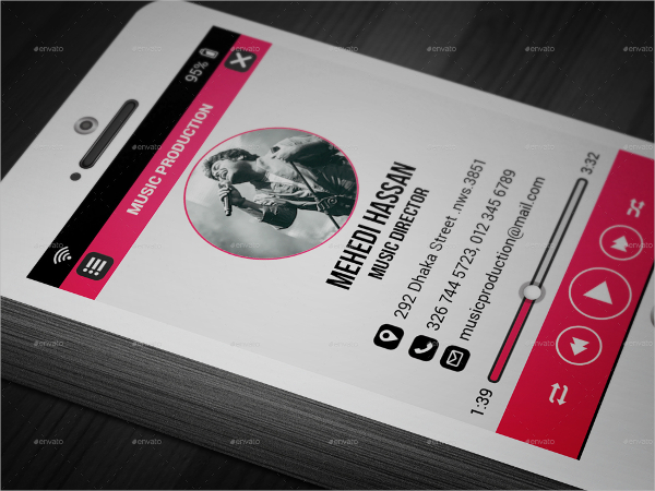 download music business cards for free tidytemplates