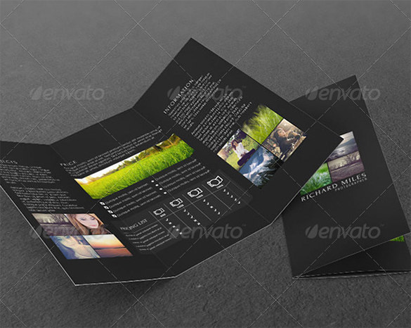 Photo Agency Tri-fold Corporate Brochure
