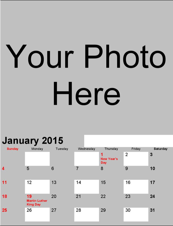 Photo Calendar 2015 Standard