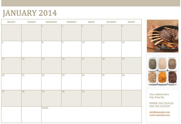 Photo Calendar Template 3
