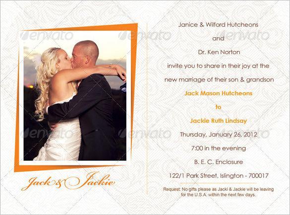 Photo Wedding Invitation Bundle PSD Design Download
