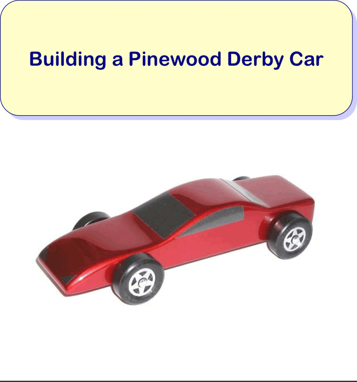 Pinewood Derby Car Template 3