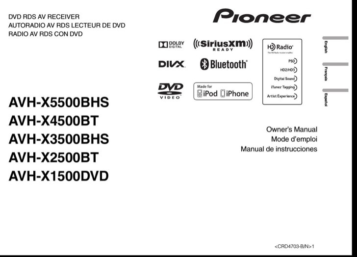 Pioneer Owners Manual Sample