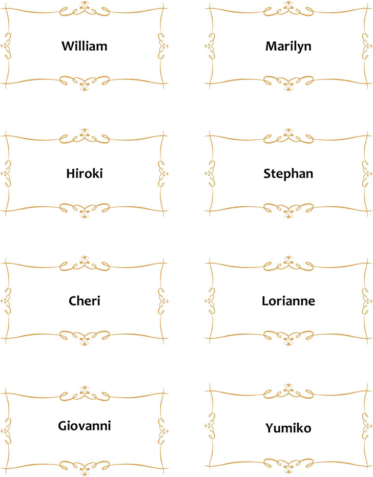 Place Card Template 1