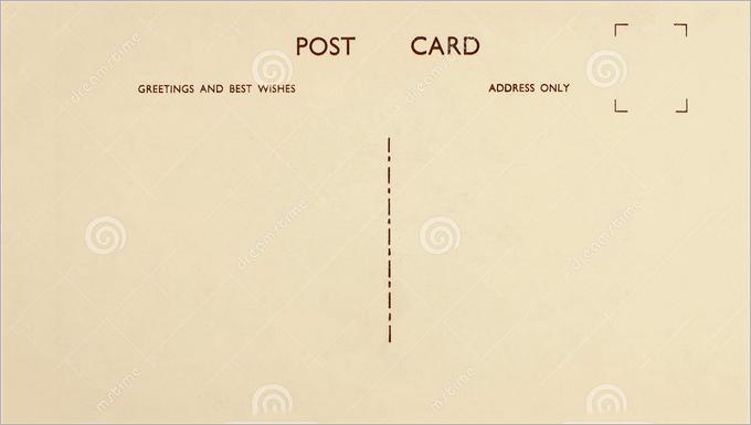 Plain Postcard Template