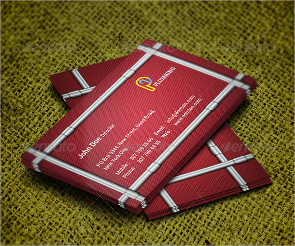 20 construction business cards free download plumber business card template wajeb Gallery