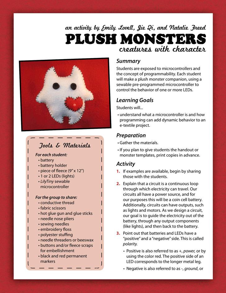 Plush Monster Template