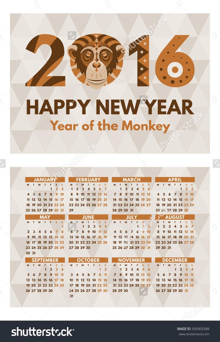 Pocket Calendar Design Template