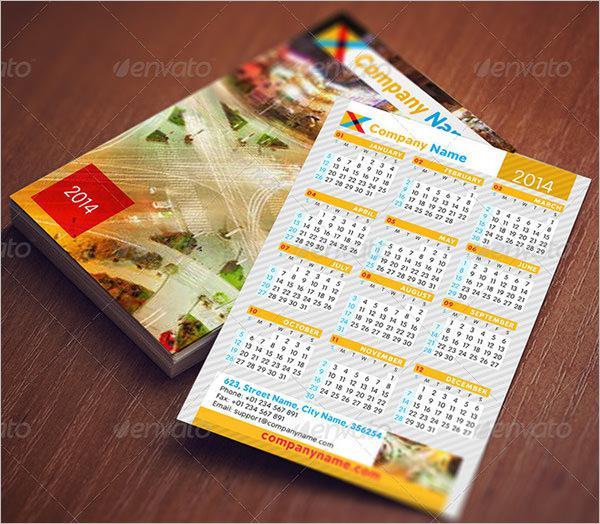 Pocket Calendar Set Template