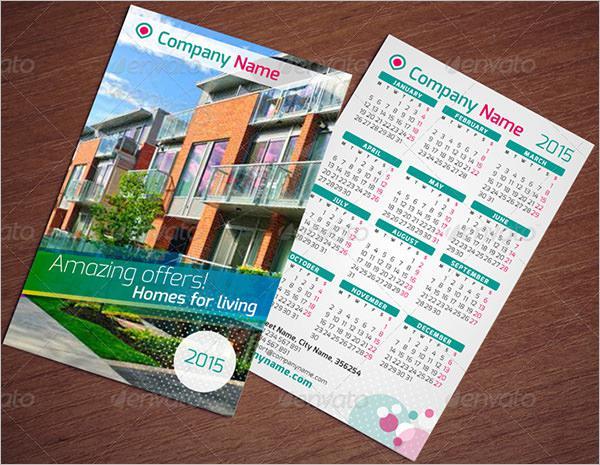 Pocket Calendar Template Set