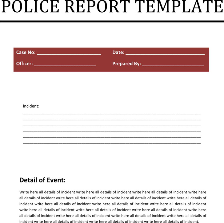 Police Report Template2
