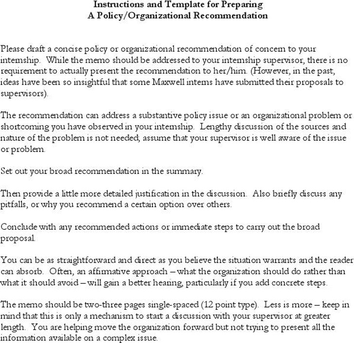 Policy Memo Template 1